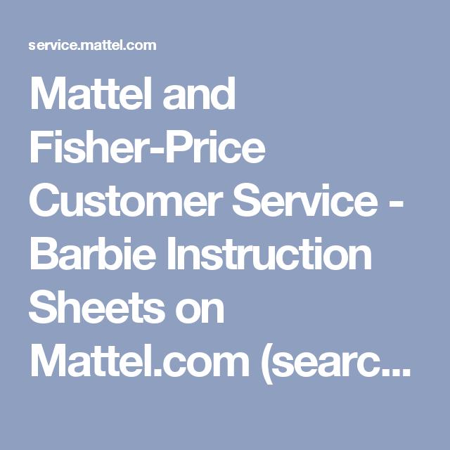 mattel customer service