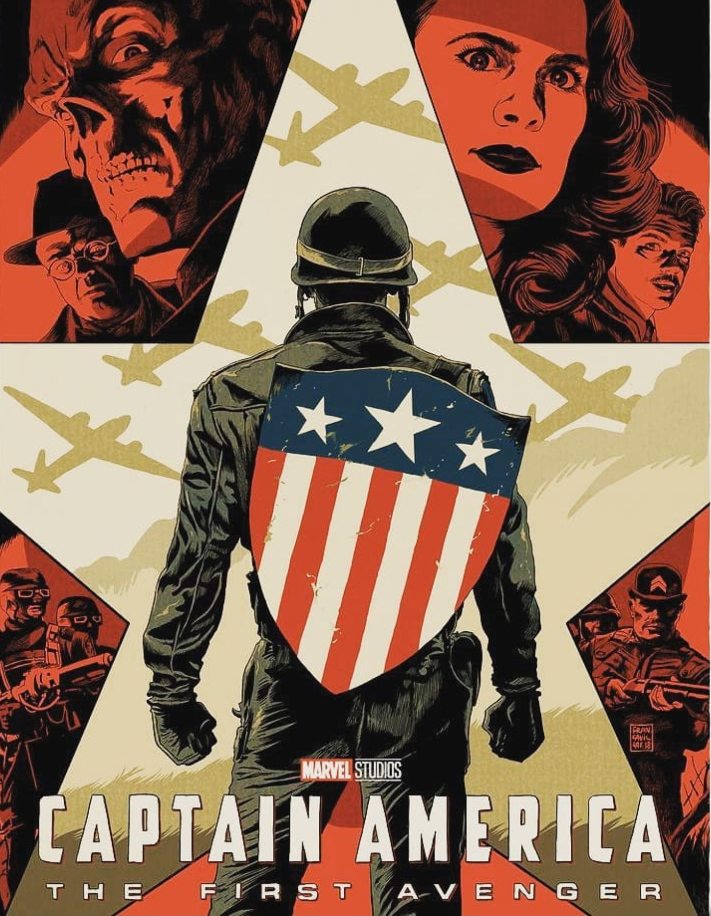 Fan Poster For Captain America The First Avenger 2011 Avengers Poster Captain America Poster Marvel Movie Posters