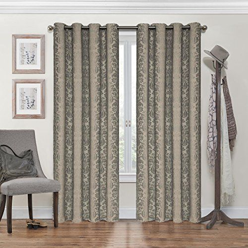 Eclipse Nadya Grommet Blackout Window Curtain Panel 95Inch Black Check This Awesome Product By
