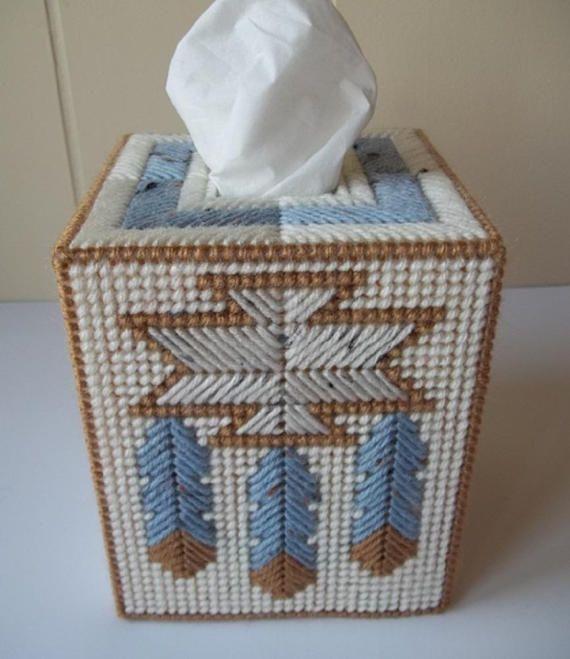 Native American Design Tissue Box Cover, Plastic Canvas Tissue Cover, Home  Decor, Kitchen Decor, Kitchen Accessory, Bath Accessory