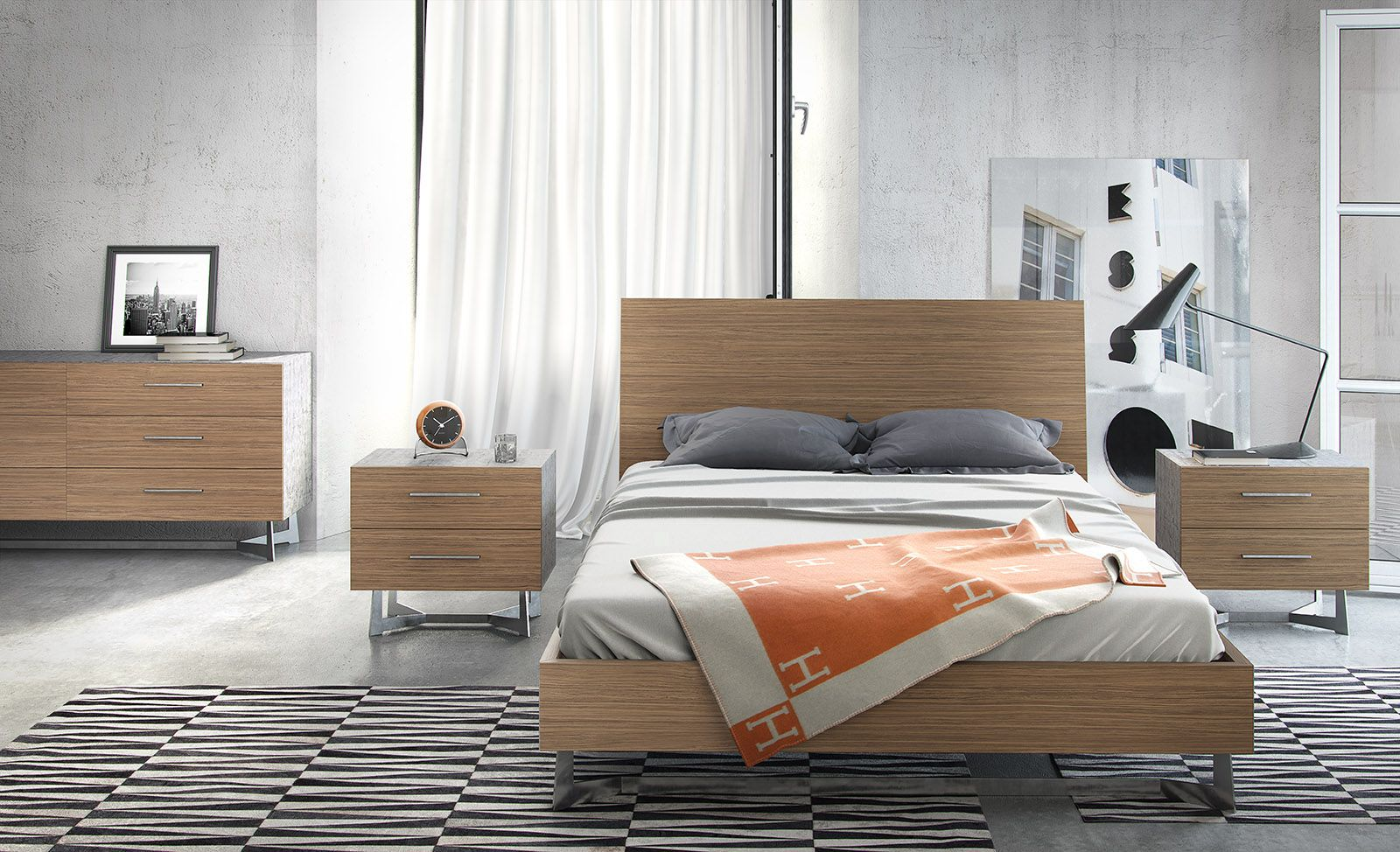 Imposing yet understated, the Broome bed's headboard