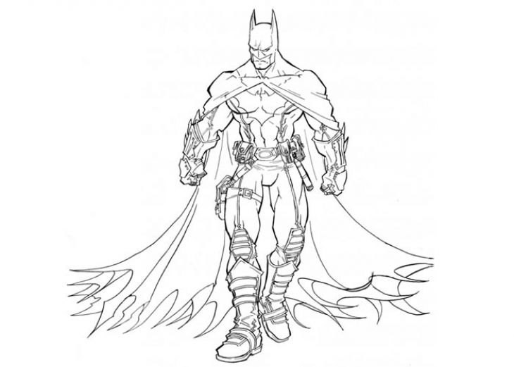A Cool Picture Of Fully Loaded Batman The Dark Knight To Print And Color