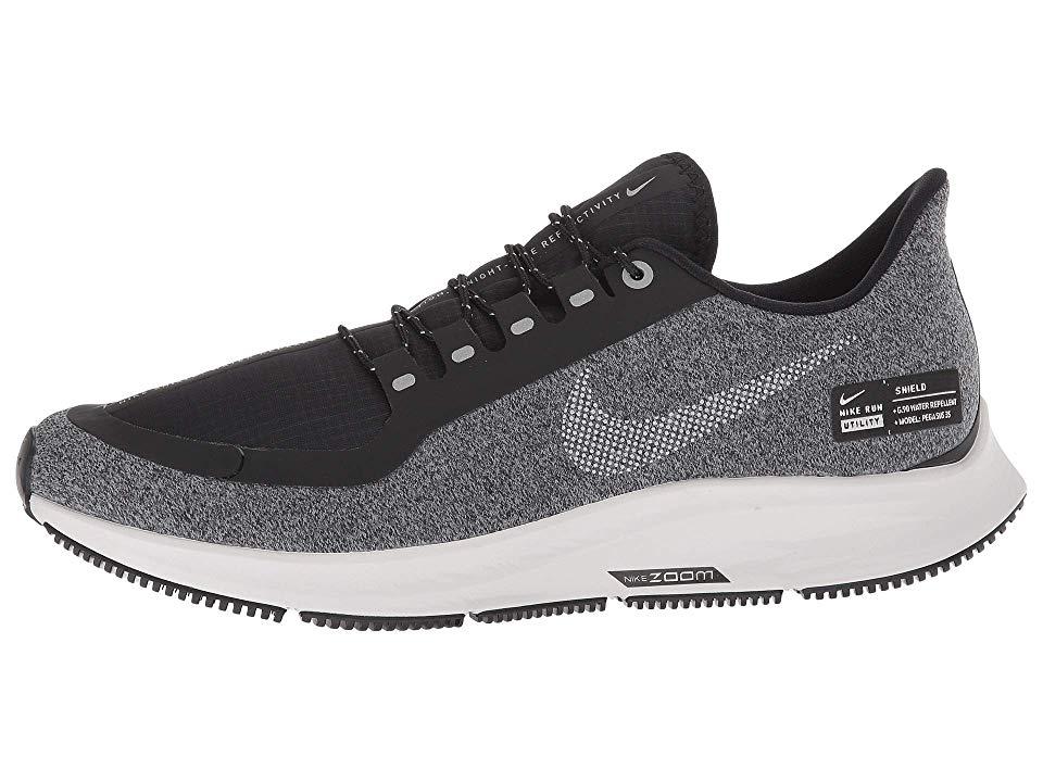 Nike Air Zoom Pegasus 35 Shield Women S Running Shoes Black Metallic Silver Cool Grey Black Running Shoes Shoes Womens Running Shoes