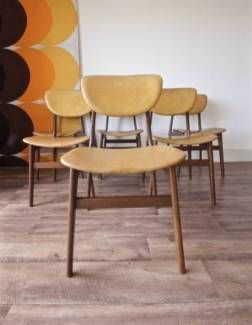 Set Of 6 Vintage Retro Parker Style 1960 S Teak Dining Chairs
