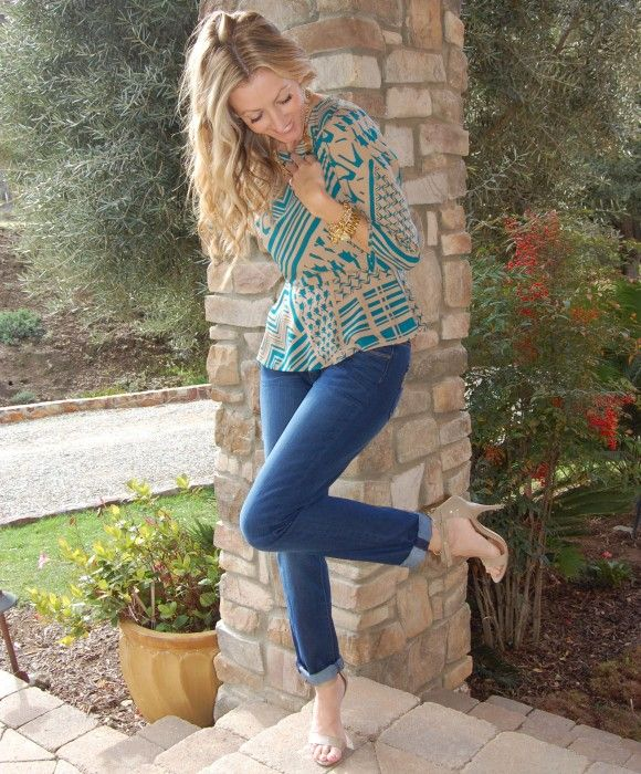 @ShopRedClover printed peplum top & a giveaway on the blog today!