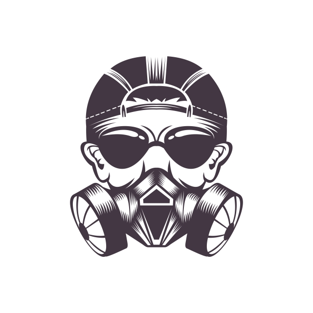 Gas Mask Vector Illustration For Your Company Or Brand Illustration Art Logos