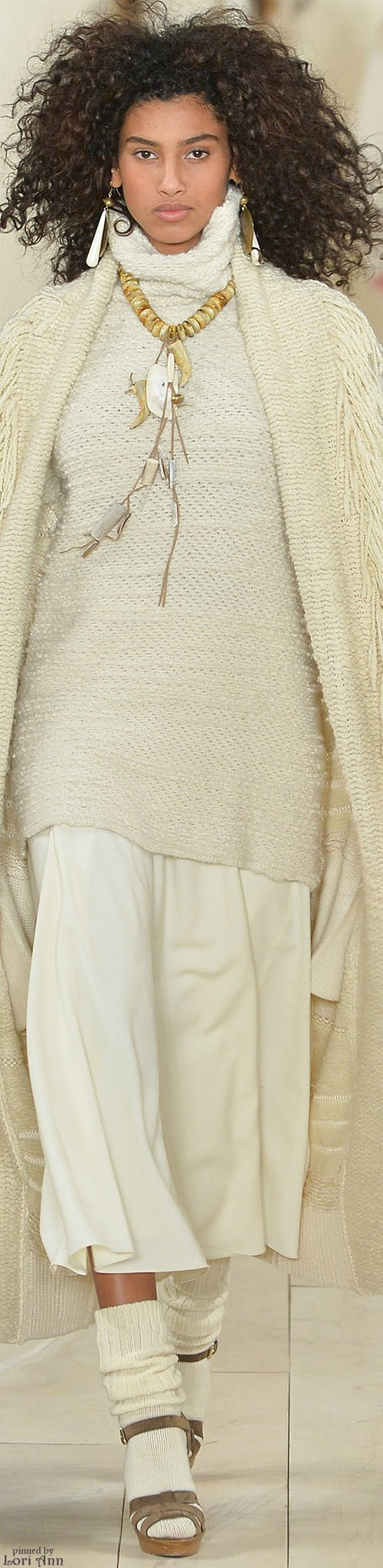 Ralph Lauren ~ Winter White Knit Fall 2015 RTW