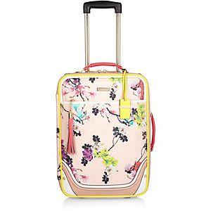 Pink floral print suitcase | Travel fashion!! | Pinterest | Floral ...