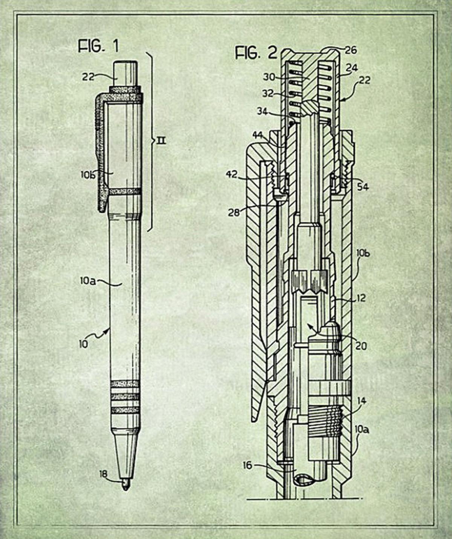 Ballpoint pen photos blueprints behind famous inventions blueprints of famous inventions malvernweather Choice Image