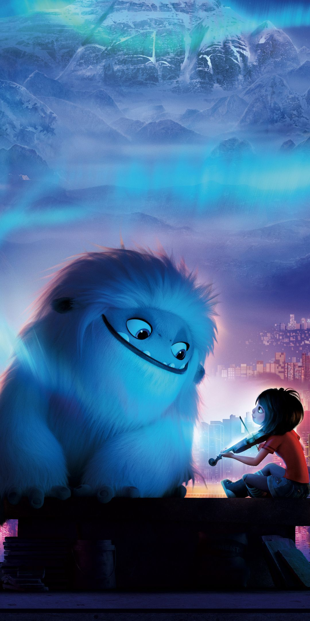 1080x2160 Abominable Yeti And Boy Animation Movie Wallpaper Disney Wallpaper Cute Disney Wallpaper Cartoon Wallpaper