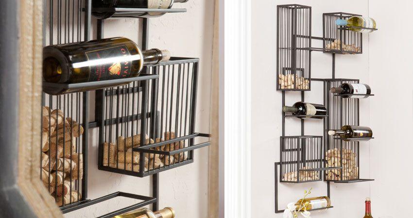 Wall Mounted Wine Racks In Modern Vintage Style Craft Ideas