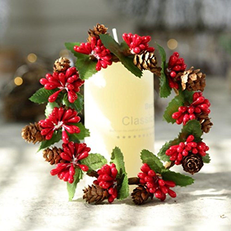 Iusun Christmas Wreath Garland Window Door Wall Ornament Bowknot ...