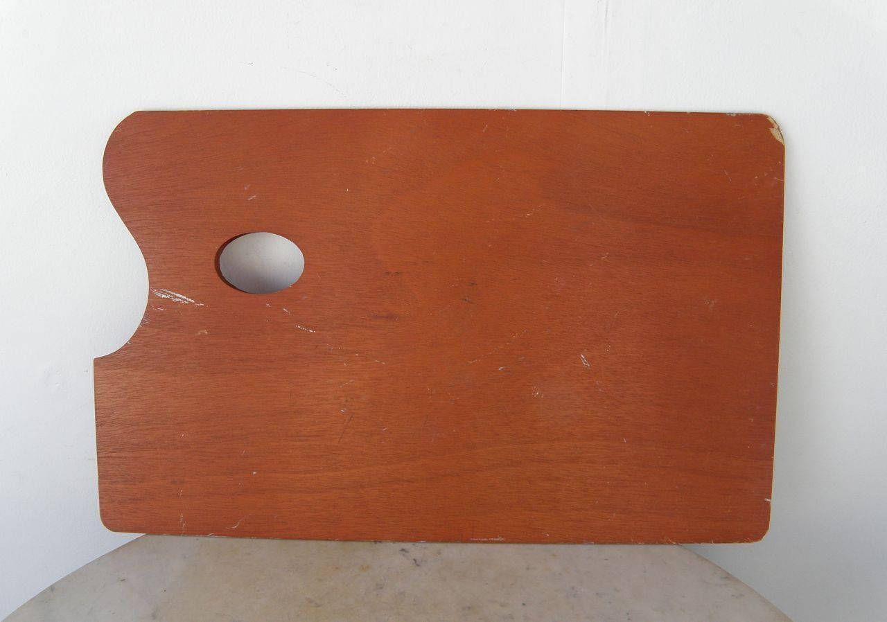 Large Wood Palette Artist S Painter S Wooden Pallette Vintage Big Size 17 X 11 X 3 16 Art Supplies Artist S Thumb Hole A Few P Drip Painting Artist Palette