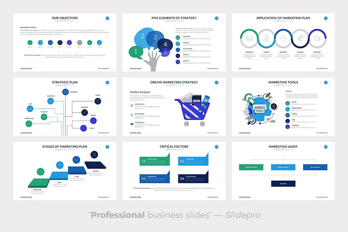 Marketing Plan Powerpoint Template by SlidePro on