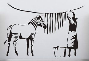 wash your stripes- Decal for Laundry room wall