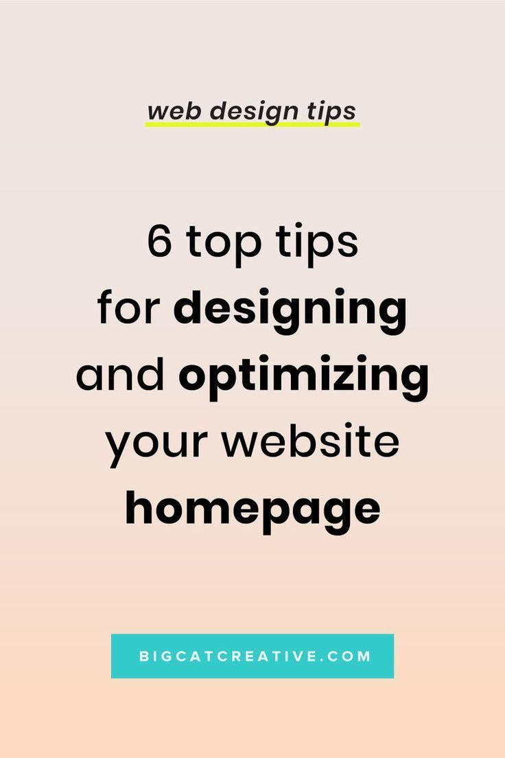 6 Top Tips for Designing & Optimizing Your Website Homepage is part of Web design tips, Web design help, Web design, Small business website design, Squarespace tutorial, Squarespace design - First impressions matter, that's why your homepage is so important! If you want to leave a great first impression and turn your visitors into customers, you need to be strategic about how you design your homepage