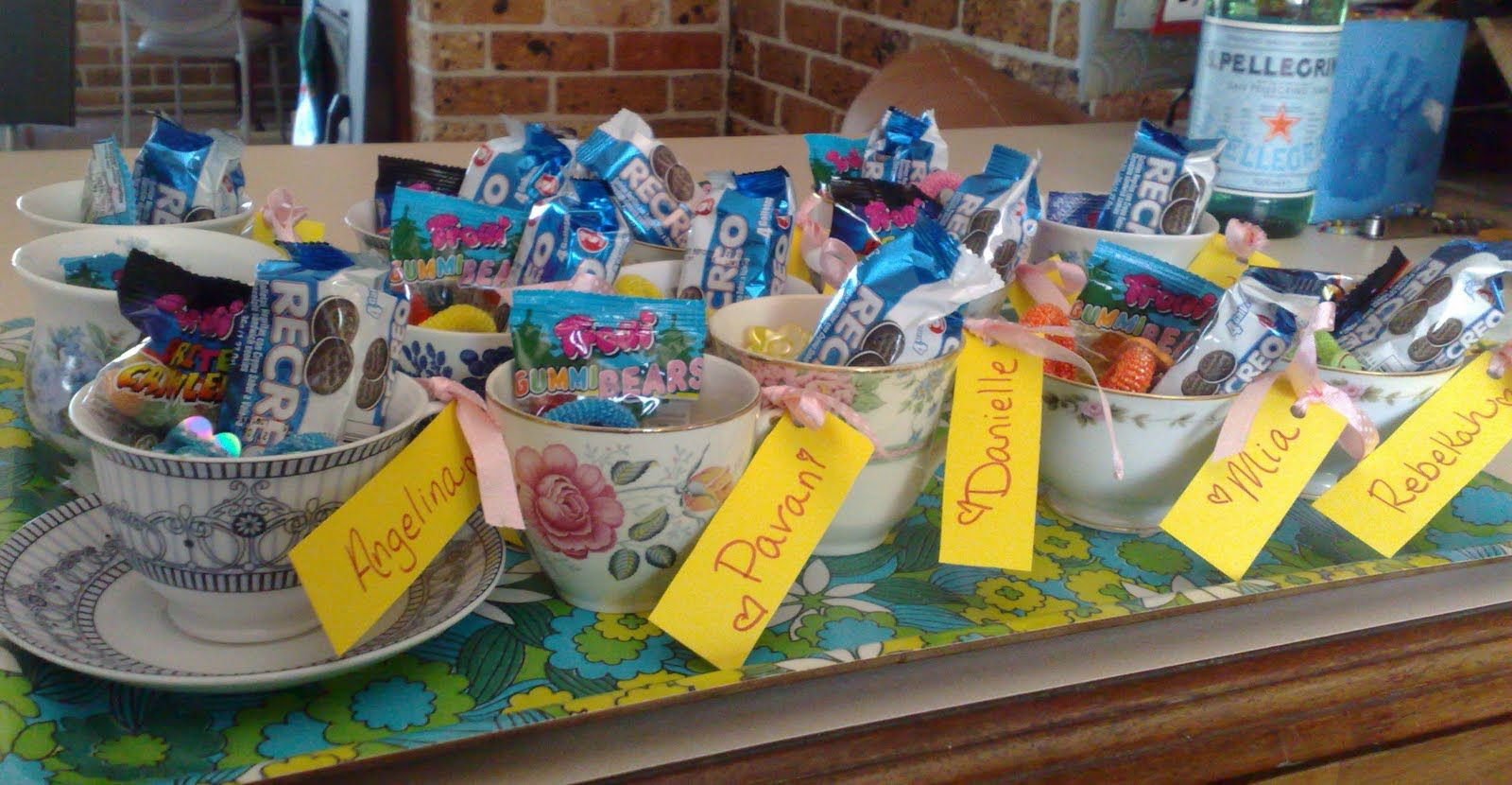 Put Goodie Bags In Tea Cups With Child S Name Tag After They Decorate Them Tea Party Favors Tea Cup Party Tea Party Favors Kids