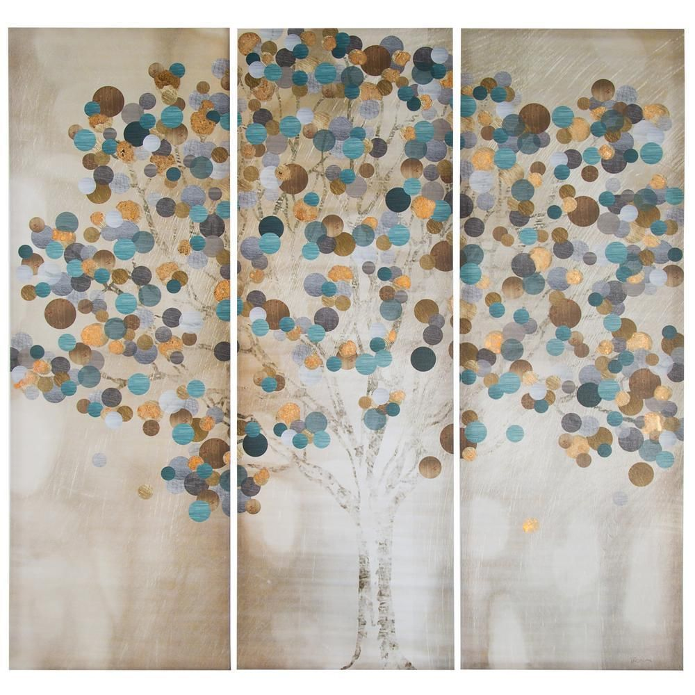 Modern canvas painting frameless panels beautiful tree hanging