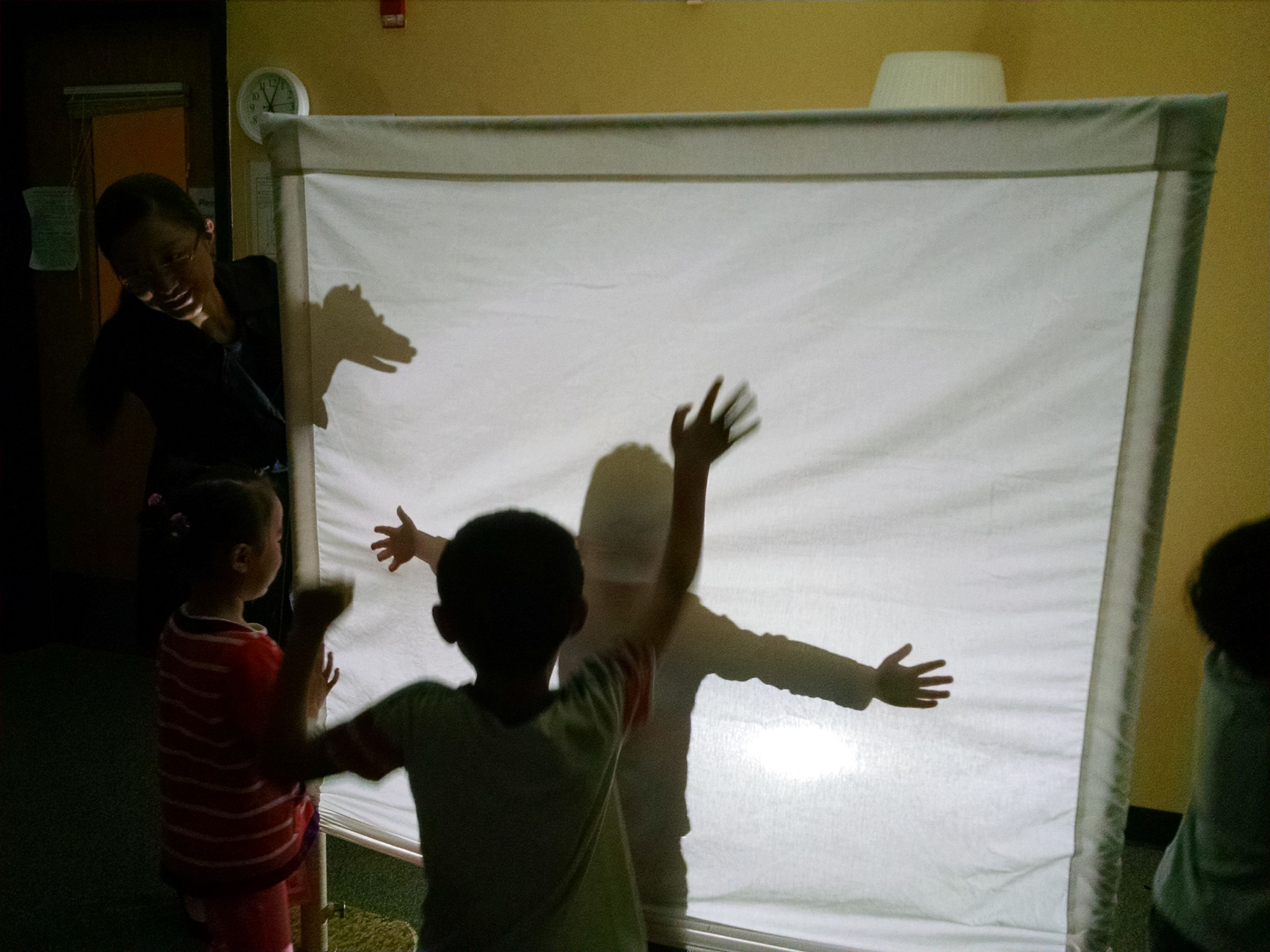 Preschool Science Class On Light And Shadows