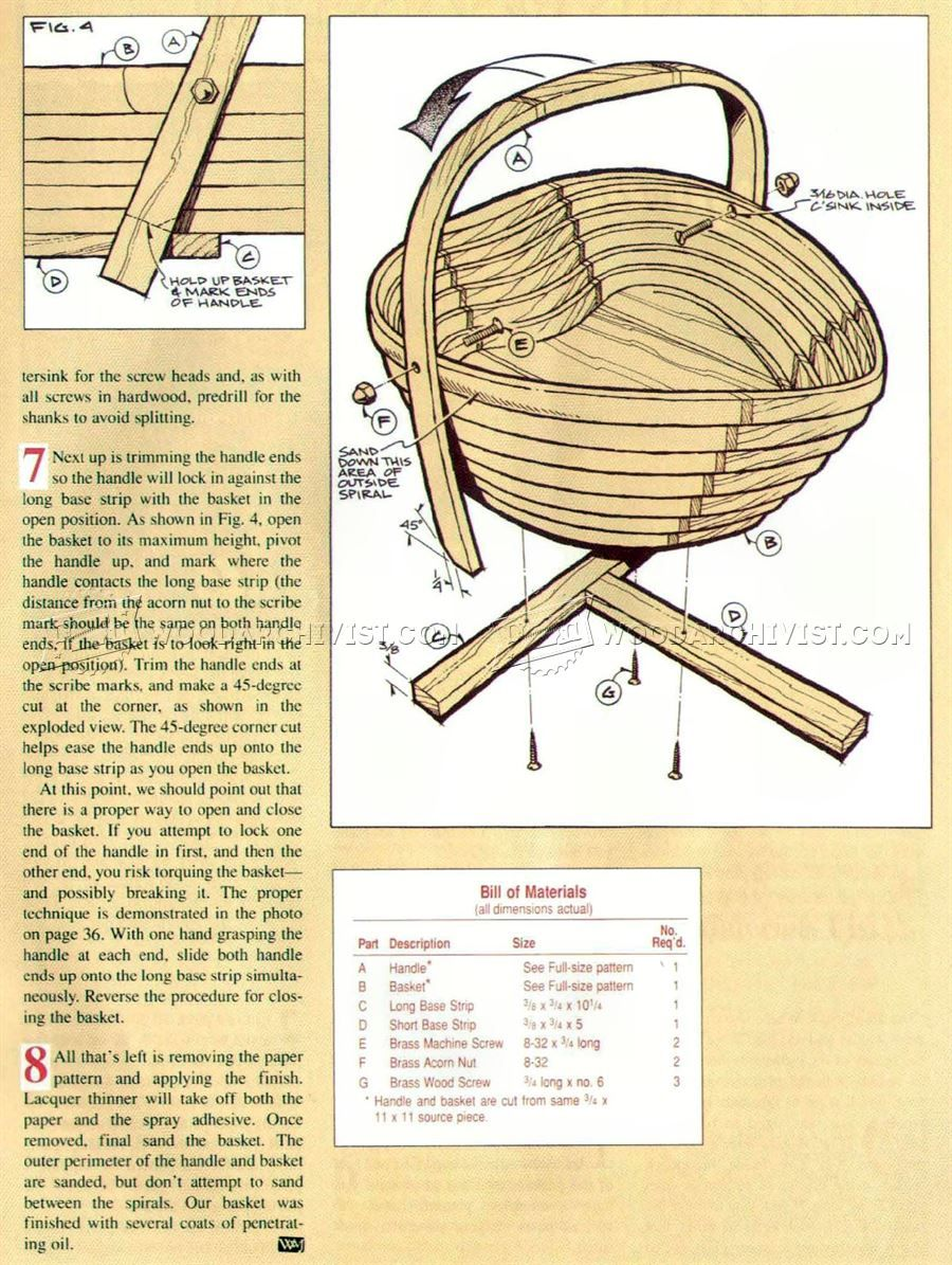 2339 Collapsible Wooden Basket Plans Scroll Saw Woodworking Plans