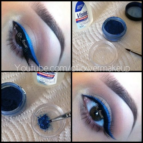 How to make your own liquid eyeliner safely. Add one drop of Visine or saline drops