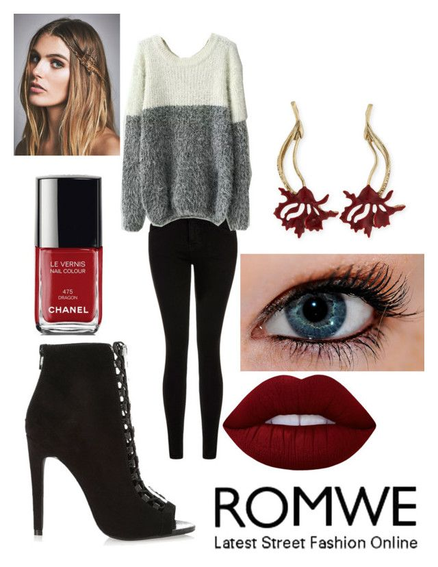 """""""."""" by robandshannon ❤ liked on Polyvore featuring Current/Elliott, River Island, Lime Crime, Chanel, Oscar de la Renta and Free People"""