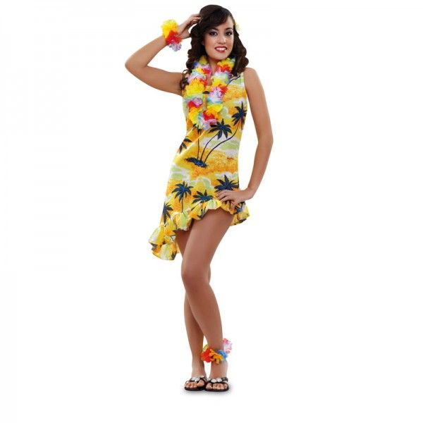 Vestido para una fiesta hawaiana