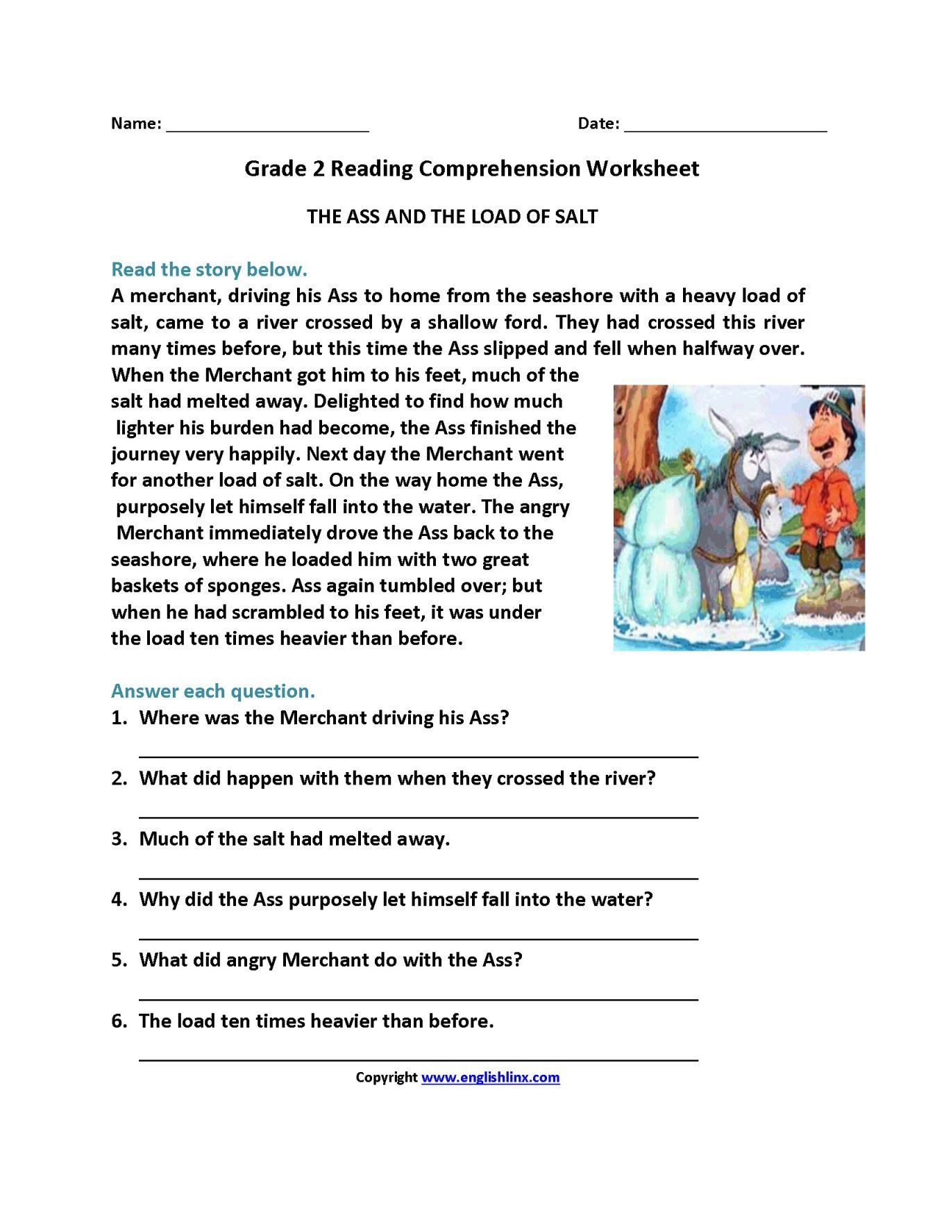 Second Grade Reading Comprehension Stories Pin On Reading