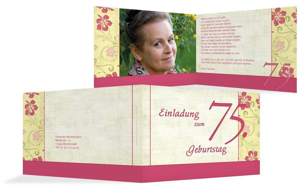 Einladung Zum 75 Geburtstag Geburtstag Einladung In 2020 Invitations Book Cover