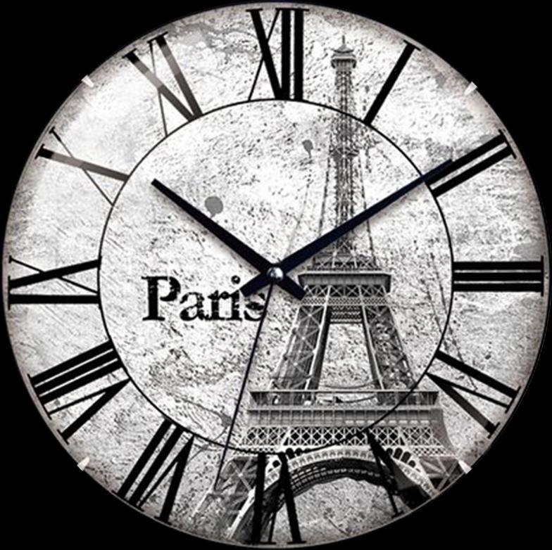 ZEGAR ŚCIENNY POKOJOWY NA ŚCIANĘ PARIS PARYŻ - 5687058014 - oficjalne archiwum allegro
