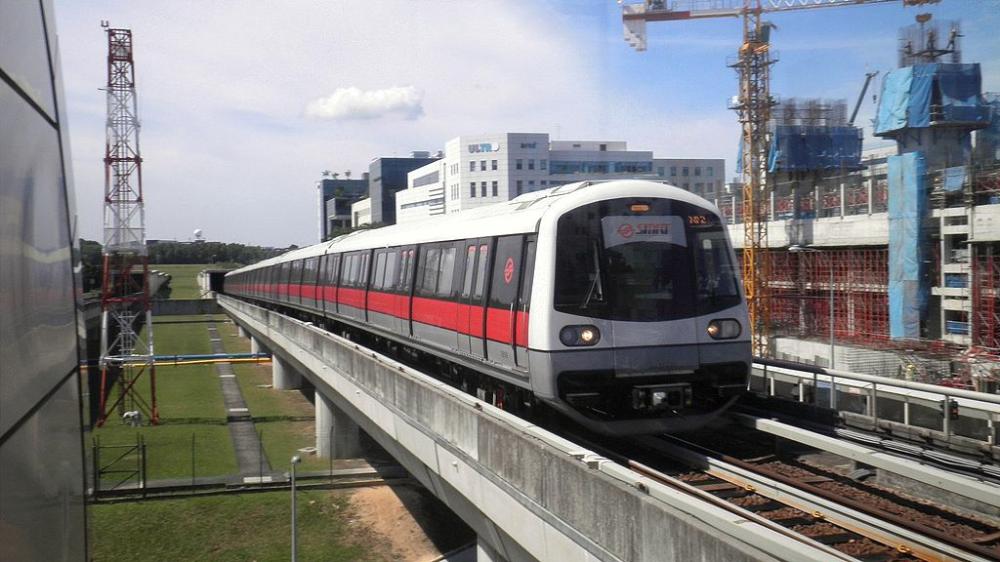 A Kawasaki Heavy Industries Csr Qingdao Sifang C151a Train Approaching Expo Mrt Station Southeast Asia Kawasaki Heavy Industries Singapore