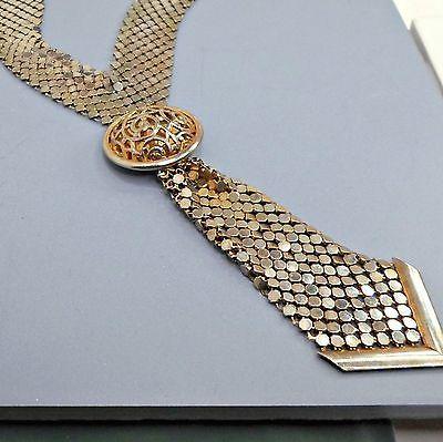 Necklace-mesh-tie-sleek-slinky-silky-supple-vintage-sultry-satiny-glossy-18-inch