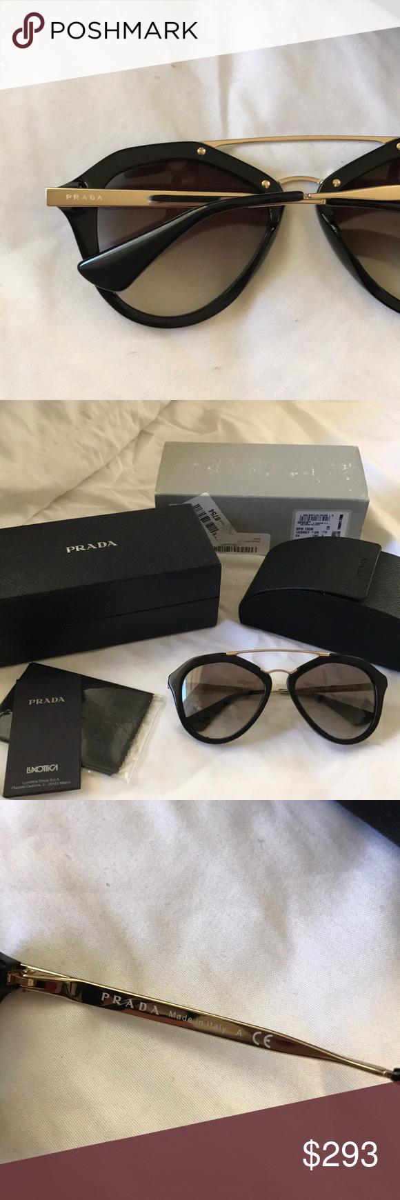 0a890147955 ... switzerland ib prada black aviator sunglasses brand new with all the  original paperwork and storage.