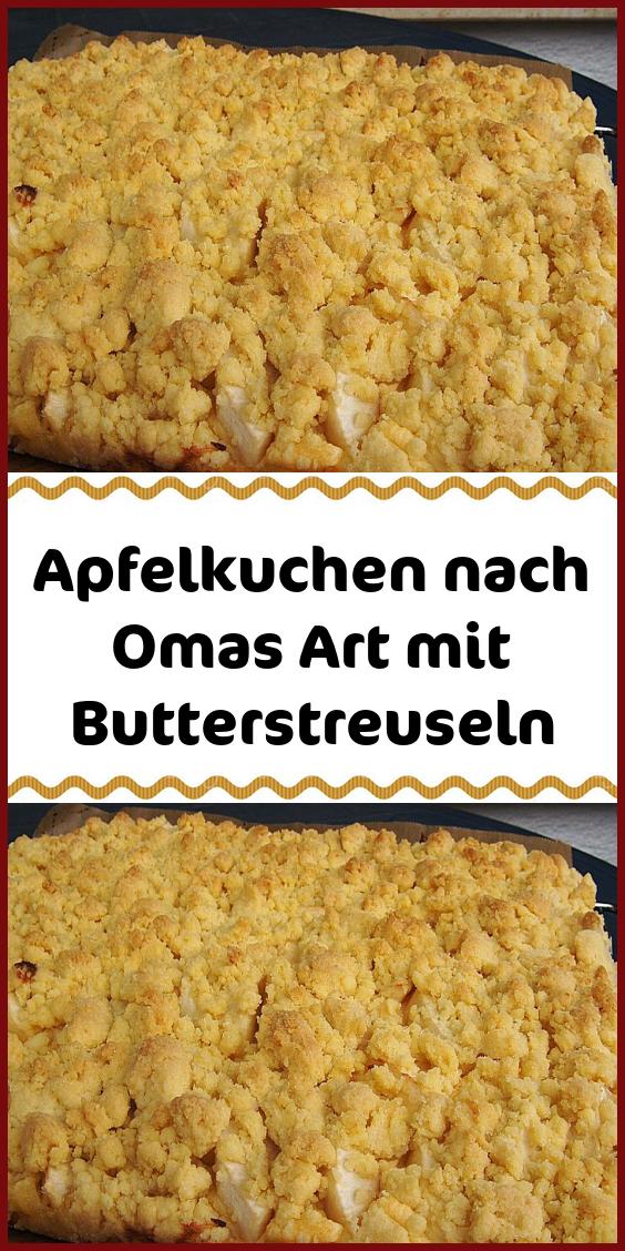 #kuchen Apfelkuchen nach Omas Art mit Butterstreuseln