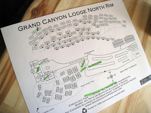Map of the Grand Canyon Lodge North Rim | Utah National Parks Trip ...
