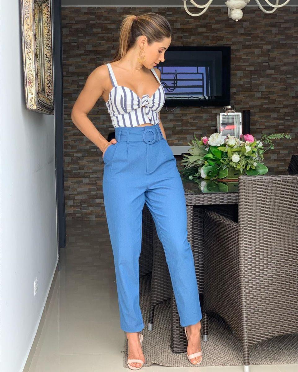 Blusa Pantalon En Indigo Talle Alto Informacion Solo X El Whatsapp 3104378541 Pantalones De Moda Mujer Pantalones De Moda Ropa De Moda