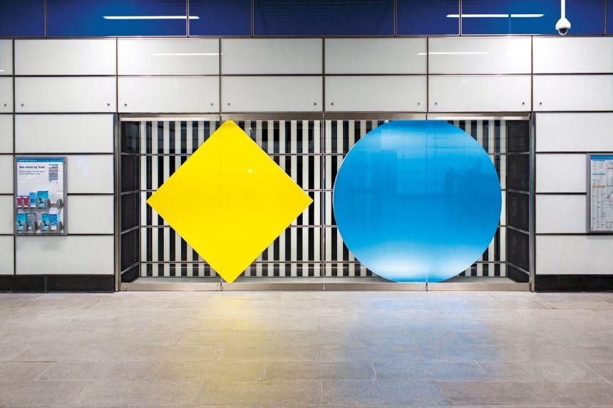Daniel Buren S Artwork Of Shapes Colours And Trademark Stripes Launches At Tottenham Court Road Daniel Buren Artwork Colours