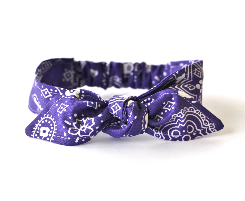 Baby Toddler Pre-tied Head Scarfs Purple Bandana Baby Headband Hair  Accessory by Lorettajos on Etsy f2c8e176815