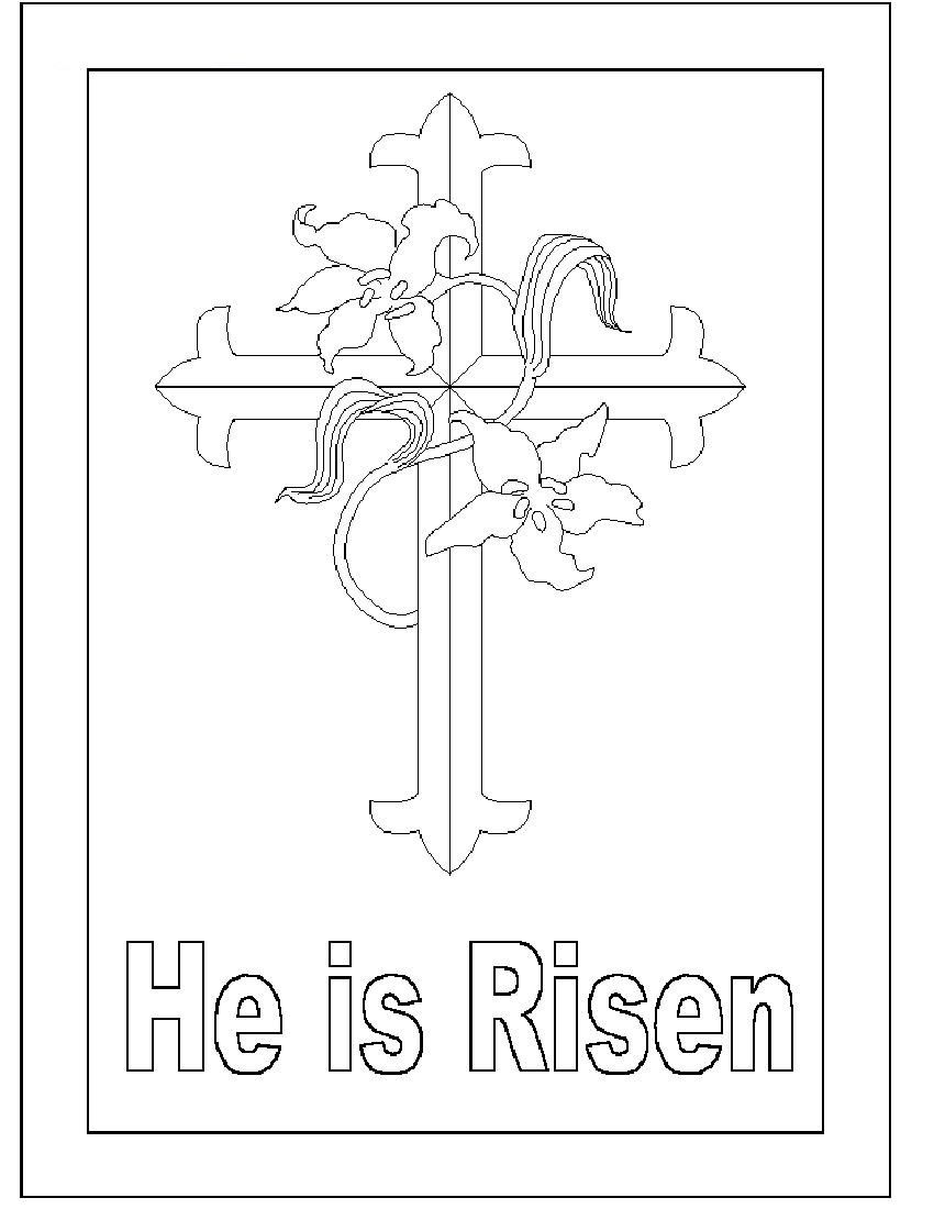 CHRISTIAN EASTER COLORING PAGES - Google Search | Easter 2014 ...