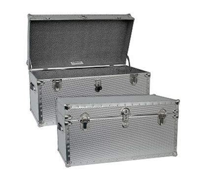 Foot Locker Storage Chest Cool Steel College Dorm Trunk  Footlocker College Dorm Rooms And Design Decoration