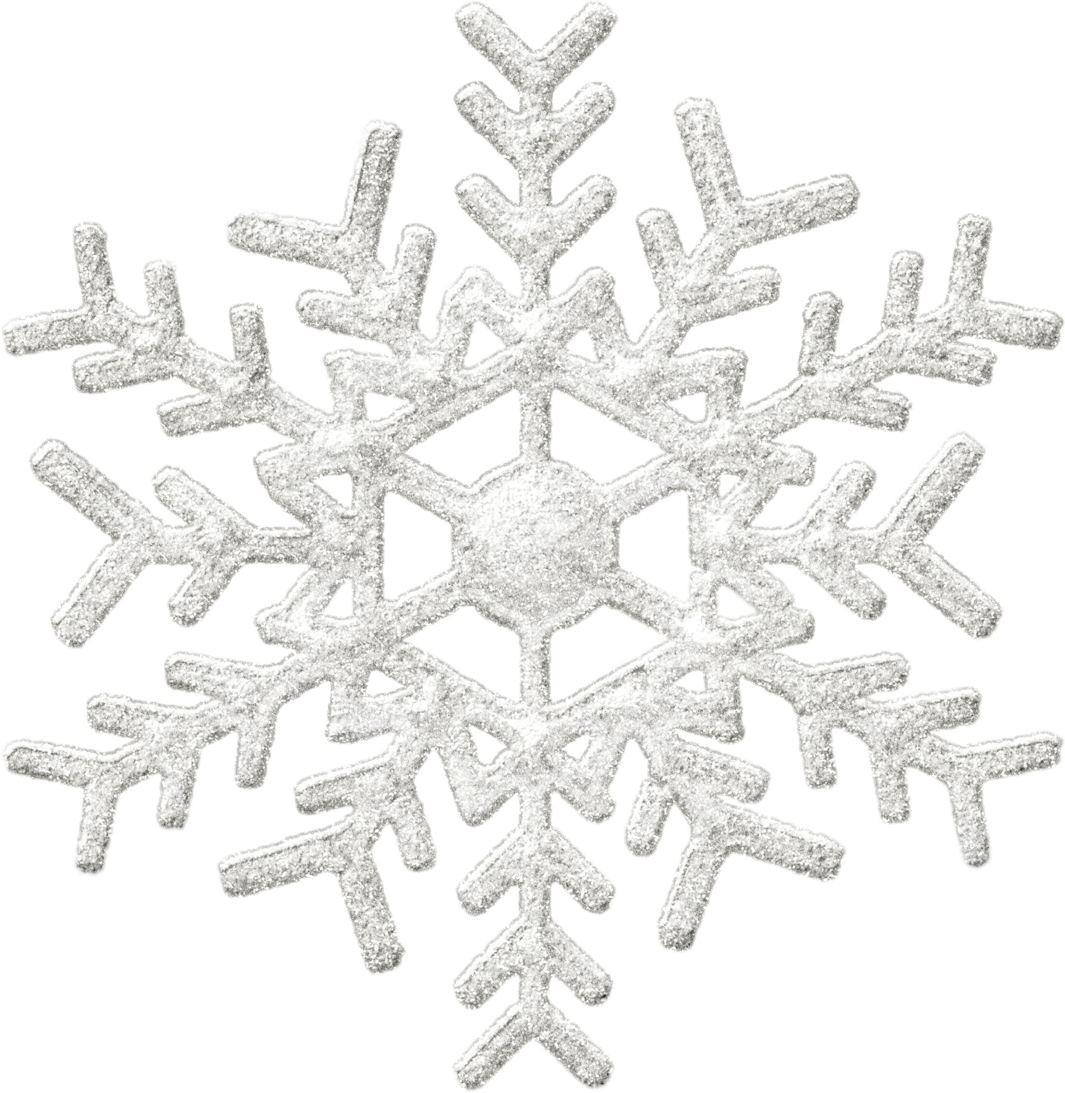 Clipart Snowflakes Glitter Background Silver Snowflakes