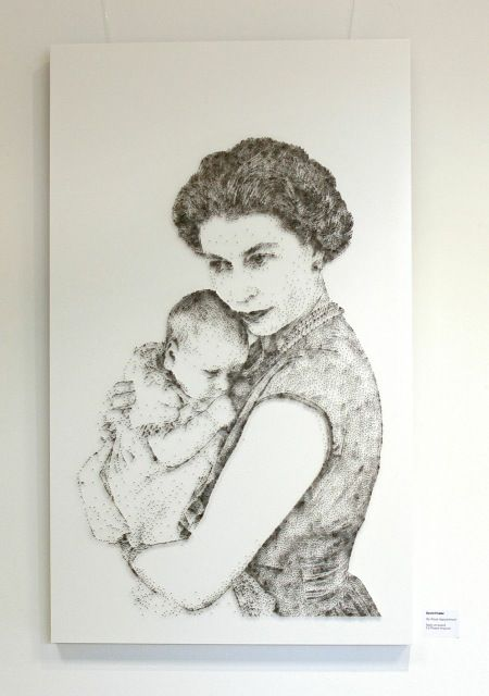 David Foster Uk Is Creating Portraits And Realistic Illustrations Stippling With Nails Hammer And Canvas Art Artist Stippling Art