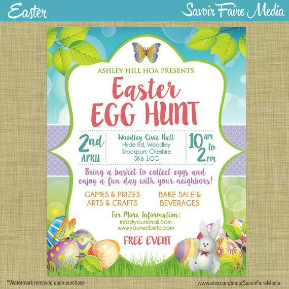 Easter egg poster | Flyers | Pinterest | Pta