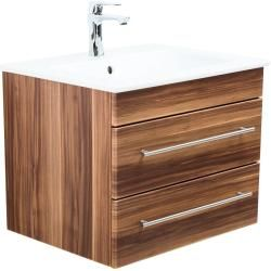 Photo of Mobile da bagno con lavabo Villeroy & Boch Venticello emozione lucida seta noce 60 cm