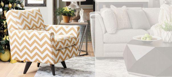 Pleasant Chevron Chair Yellow And White Zig Zag Chair By La Z Boy Machost Co Dining Chair Design Ideas Machostcouk