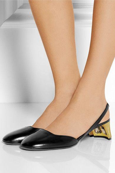 6f381781726 Gucci - Arielle Swarovski crystal-embellished leather slingback ...