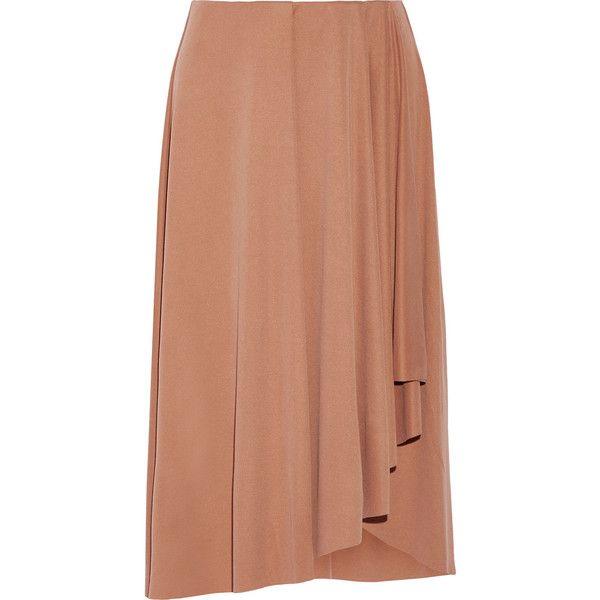 By Malene Birger Inny wrap-effect modal-blend skirt (€210) ❤ liked on Polyvore featuring skirts, pink, wraparound skirt, pink skirt, beige skirt, pull on skirt and pink wrap skirt