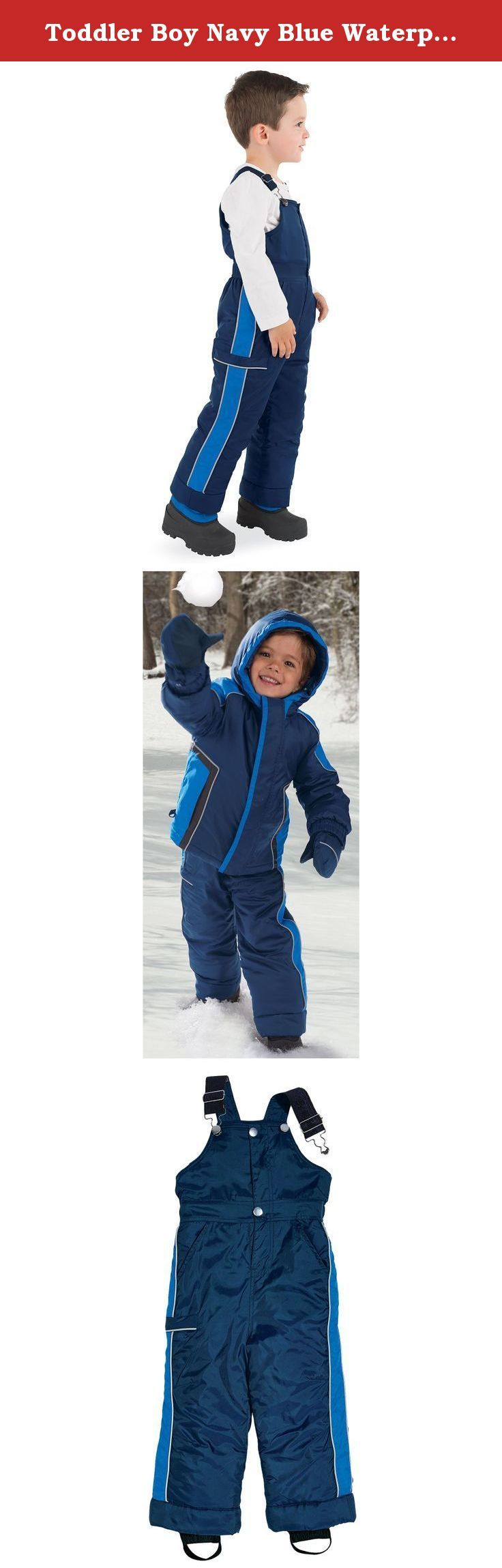 758d8b43a846 Toddler Boy Navy Blue Waterproof Thinsulate Winter Snow Pants by Co ...