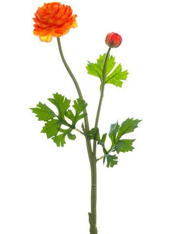 Orange Ranunculus Silk Flower Stem Silk Ranunculus Silk Flowers Wedding Fall Flowers