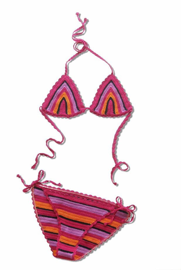 Come Fare Un Bikini All Uncinetto Per Il Mare Bikini All Uncinetto Costume Da Bagno Fai Da Te Bikini